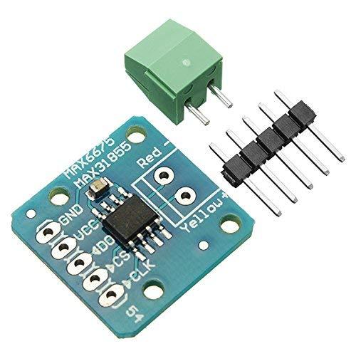 5 Pieces MAX31855 MAX6675 SPI K Thermocouple Temperature Sensor Module Board for Arduino