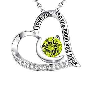 Green Peridot August Birthstone Necklace