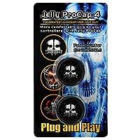 Gam3Gear Jelly ProCap シリコンスカルゴーストアナログサムスティックグリップキャップ PS4 デュアルショック4コントローラー用