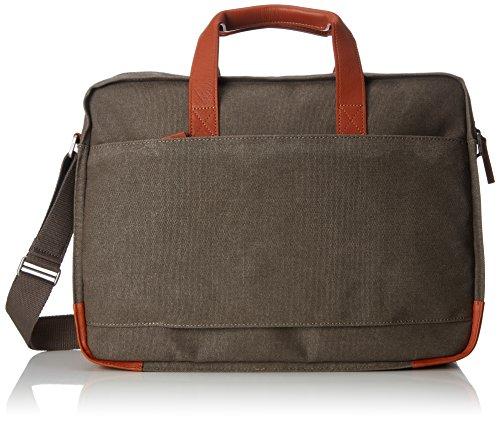 BREE Unisex-Erwachsene Punch Casual 67, Grey/Cognac, Briefcase Schultertasche Grau (Grey)