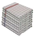 Set di 10 strofinacci - 100% cotone lavabile a 95 ° - resistenti all'ebollizione - Misure...