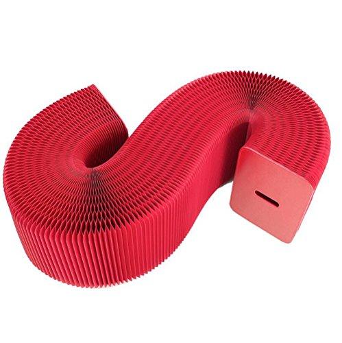 Tabouret de fauteuil pliant à rayures rouge (tapis cadeau aléatoire)