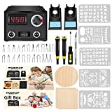 6. Wood Burning Kit,Wood Burning Tool,Wood Burner Tool,Wood Burning Tips,Pyrography Kit,Wood-Burning Kits Adults Beginners Pen
