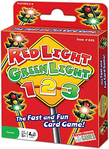 Red Light, Green Light, 1-2-3 - Card Game for Ages 5 and Up