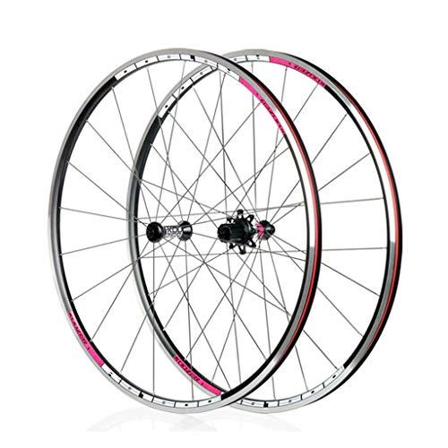 LBBL Ruedas Bicicleta, 700C Wheels Freno Disco 8 9 10 11 Velocidad Rueda Aro De Aluminio Liberación Rápida 29 Pulgadas Ligera Y Resistente A La Torsión (Color : B, Size : 27.5inch)