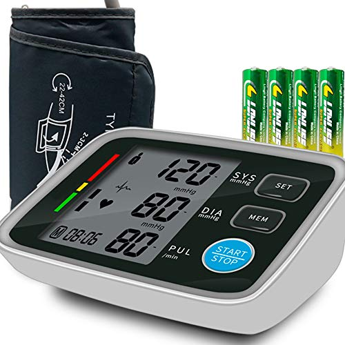 Blood Pressure Monitor Arm Cuff Kit by Balance, Digital BP Meter with Large Display-Irregular Heartbeat & Hypertension Detector, Included AC Power Adaptor&Carrying Bag (All New 2021)