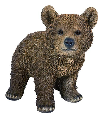 Vivid Arts - Real Life Brown Bear Cub Home or Garden Decoration (XRL-BEAR-D)