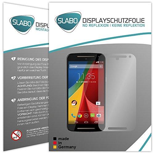 Slabo 4 x Bildschirmschutzfolie Motorola Moto G 2. Generation Bildschirmschutz Folie No Reflexion Keine Reflektion MATT - Entspiegelnd Made IN Germany