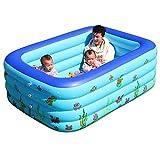 B/H Runder Aufblasbarer Schwimmbad Pool,Großes Kinderbecken, erwachsenes Familienbad-B_1.5m,Aufblasbares Kinderpool für Garten