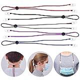 WJMY Serviettenkette Serviette Clip Bib Kette Flexible Lanyard Umhängeband Serviettenhalter Kette Verstellbare Serviettenclips für ältere Menschen, Erwachsene, Baby(Fünf Farben)