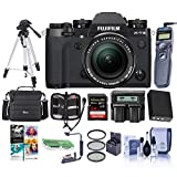 Fujifilm X-T3 26.1MP Mirrorless Digital Camera with XF 18-55mm f/2.8-4 R LM OIS Lens, Black - Bundle with 64GB SDHC U3 Card, Camera Case, Spare Battery, Tripod, Remote Shutter, Software Package, More