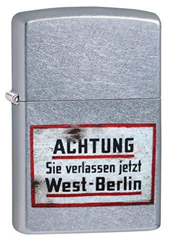 Zippo Classic Lighter-Old German Sign Feuerzeug, Messing, Individual Design, Original Pocketsize