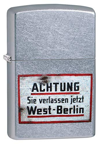 Zippo Classic Lighter-Old German Sign Accendino, Ottone, Design Individuale, Original Pocketsize