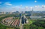 1000 Puzzles para Adultos Vietnam Ho Chi Minh Roads from Above HousesPuzzle Theme Puzzle SeriesAdecuado para familiasJuegos educativosPuzzles 38X26Cm (1000Pcs)