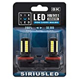 SIRIUSLED H8 H11 LED bulb for car truck Fog Light 6500k White High Power Projector Super Bright Pack of 2