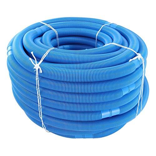 Momola Tuyau pour Piscine, Diamètre: 38 mm, Divisible Tous Les 1m, Longueur: 9m, Bleu