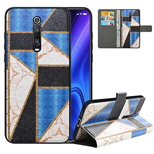 LFDZ Handyhülle für Mi 9T Hülle,Premium 2in1 Abnehmbare PU Ledertasche für Mi 9T Pro Hülle,RFID-Blocker Flip Hülle Tasche Etui Schutzhülle für Redmi K20/Redmi K20 Pro/Pocophone F2/F2 Pro,Marble