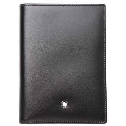 MST Wallet 11cc ID Card Black Material impermeable Diseño elegante y cómodo de llevar Todos nuestros productos están identificados con un emblema Montblanc Tamaño: 9 x 12,5 x 3