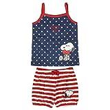 ARTESANIA CERDA Pijama Corto Single Jersey Snoopy Conjuntos, Azul (Azul C37), Talla única (Tamaño del Fabricante:24M) para Bebés