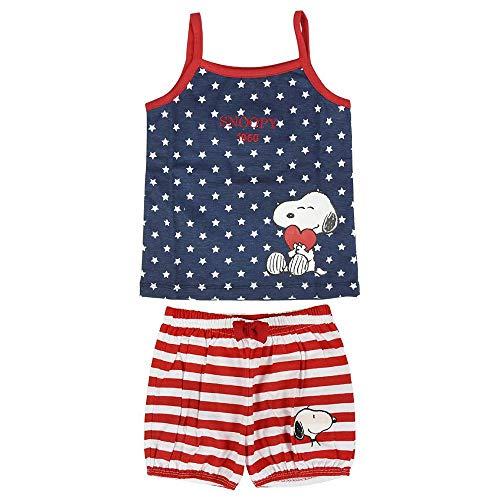 ARTESANIA CERDA Pijama Corto Single Jersey Snoopy Conjuntos, Azul (Azul C37), Talla única (Tamaño...