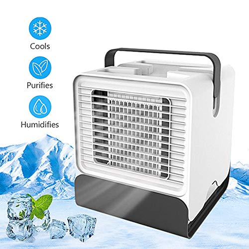 Lazaga Bladeless Fan, Portable Personal Air Cooler Desktop Air Multiplier Table Cooling Fan, Safe Quiet Table Fan Portable Durable Lightweight for Home Bedroom Baby-Room Office Outdoor