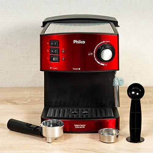 Cafeteira, Expresso 20 bar, 2 xícaras, Vermelho, 110V, Philco
