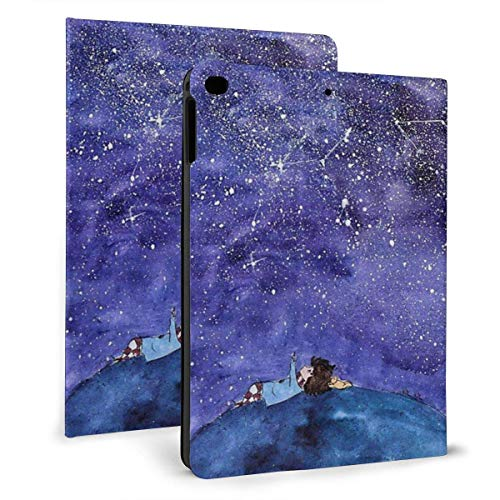 liukaidsfs Ipad case The Boy Lay On The Boulder and Looked at The Stars Slim Lightweight Smart Shell Stand Cover Case for iPad 7th 10.2 inch