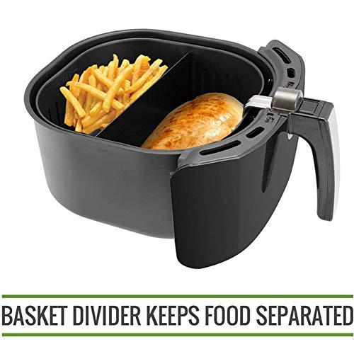 CCHM Aire freidora de cocción Divisor Compatible con 9 Pulgadas cestas de Aire Fryer Aire freidora Cesta Divisor Mantiene los Alimentos Separado