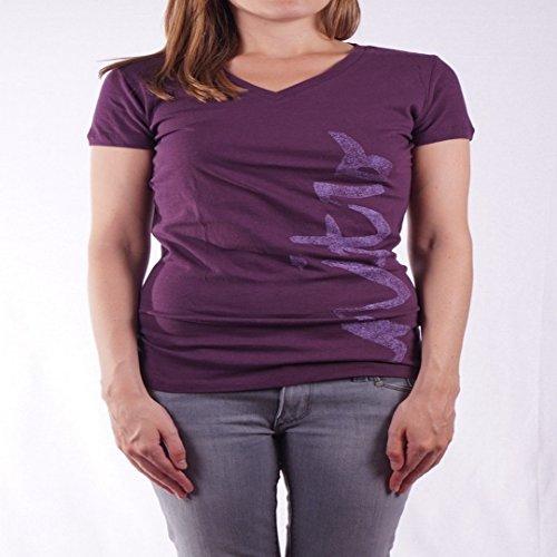 Nitro Snowboards Brush Damen-T-Shirt L dunkelviolett