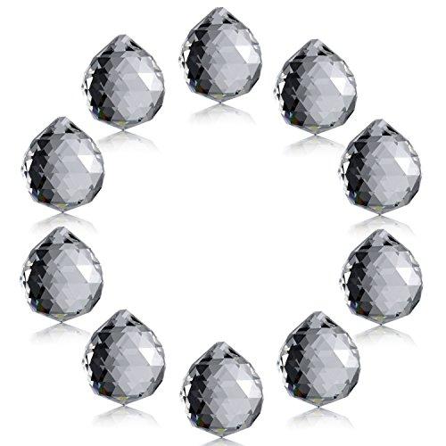 Neewer® 1.75 Pulgadas / 40mm Transparente Bola de Cristal Prisma Colgante Colector Ddl Sol Para Feng Shui / Adivinación O Decoración para Boda / Hogar / Oficina(10-Paquete)