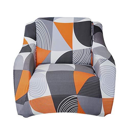 SHANNA Sofabezug Sofa Überwürfe Elastische, Stretch Sofaüberwurf 1 Sitzer Sofahusse Sofa Bezug Antirutsch für Sofa Couch, Weich Sofa Abdeckung mit 1 Stück Kissenbezug (1-Sitzer, Halbkreis)