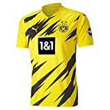 Puma Herren BVB Home Trikot Replica 20/21 T-Shirt, Cyber Yellow Black, 176