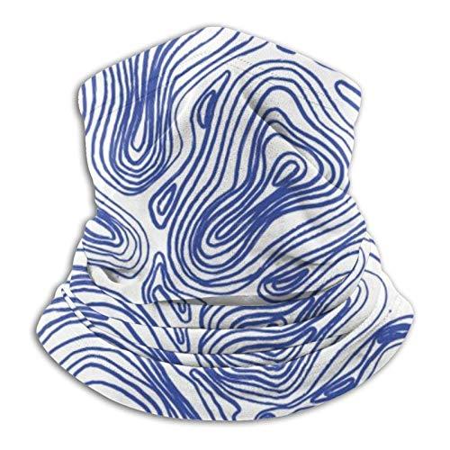 XCNGG Topographische Linien im blauen Gesichtsschal Halsmanschettenschal Bandana...