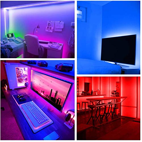 Daybetter Led Strip Lights 32.8ft Waterproof Flexible Tape Lights Color Changing 5050 RGB 300 LEDs Light Strips Kit with 44 Keys Ir Remote Controller and 12v Power Supply 9