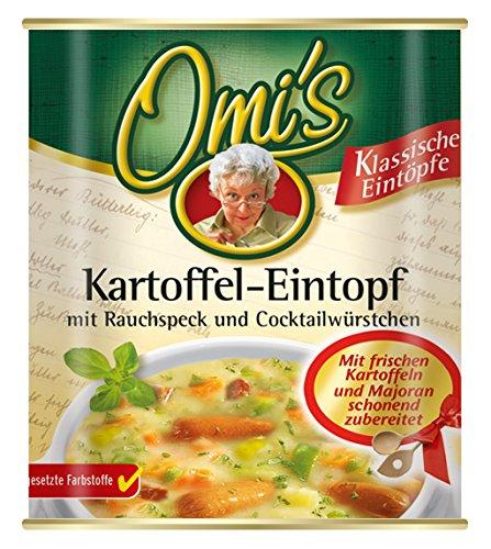 Omi's Kartoffel-Eintopf mit  Rauchspeck und Cocktailwürstchen 6er Pack (6 x 800 g)