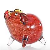 Decoración de Escritorio Color DE Vidrio Escultura Animal Figurines Ornamento Favor del Regalo a Mano de Cristal for Ministerio del Interior Adornos de Escritorio