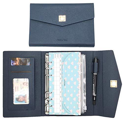 rnairni All-in-One Cash Envelopes Handbag Wallet, Finances Organizer Budget Planner Purse with 12 Budget Envelopes & Budget Sheets(Blue)