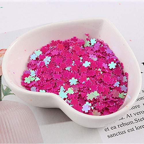 5 mm Sakura pailletten Nail Art Glitter Manicure zoete kersenbloesem sieraden vullen voor DIY kaart maken ambachten Confetti, AB Rose, 5 mm Sakura