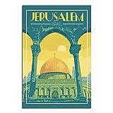 Vintage-Reiseposter, Jerusalem, Israel, Leinwand,