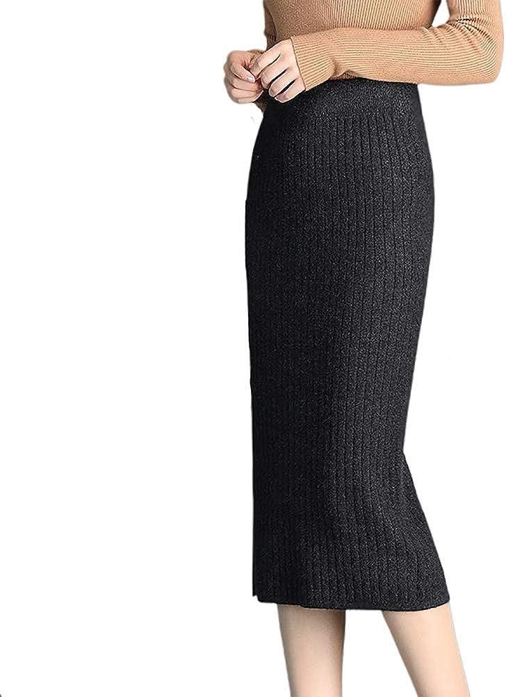 Nanxson Women' Stretchy Knit Hips-Wrapped Slim Skirts Wear to Work Skirt CFW2008
