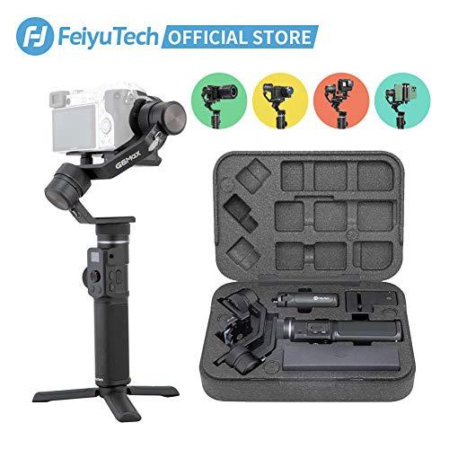FeiyuTech G6MAX All-in-one Gimbal Stabilisator 3-Achsen Handheld universal für Handy Smartphone, Sony RX100 A6300 A6400 A6500 Mirrorless DSLM Kamera und Actionkamera Gopro, Sony RX0(Neueste)