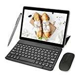 Tablette Tactile 10' HD, 4G/WiFi 64Go ROM 4Go RAM 8000mAh Android 9.0 OTG Dual SIM Call Tablette Tablettes tactil Clavier/Souris -10pcs (Noir)