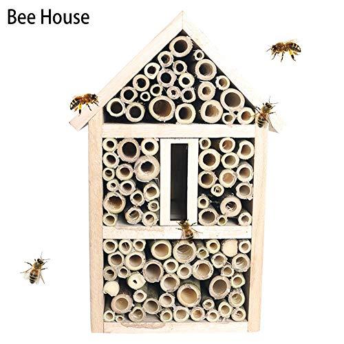 Further Insektenhaus Insektenhotel 17x26x12.5cm, Bienenhotel Unterschlupf Aus Naturmaterialien Bambusbienenstock, Mini-Wildbienenhotel, Insektenhotel-Bausatz, Für Verschiedene Fluginsekten