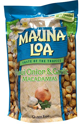 Hawaiian Roasted Macadamia Nuts (Maui Onion and Garlic, 10 Ounce)