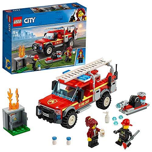 LEGO City Town - Camión de Intervención de la Jefa de Bomberos Vehículo de Juguete de construcción para Recrear Aventuras, incluye Minifiguras de los Bomberos, Novedad 2019 (60231)