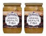 Yehuda Original Gefilte Fish 24oz (2 Pack) Premium Quality, No MSG, Original Home Style Recipe, No Egg Yolk, Kosher For Passover, Product of Israel