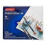 Derwent Watercolour - Lápices acuarelables (24 colores, en estuche de metal)