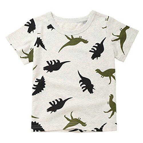 t-shirt fille, Mamum Fille T-Shirt Col Rond Manches Courtes pour Étudiant Été Automne (90(18Mois))