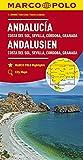 MARCO POLO Karte Andalusien, Costa del Sol, Sevilla, Cordoba, Granada 1:200 000: Wegenkaart 1:200 000 (MARCO POLO Karten 1:200.000) - Collectif