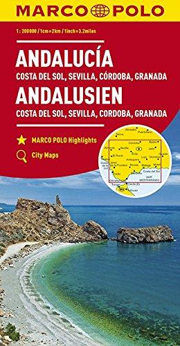 Preisvergleich Produktbild MARCO POLO Karte Andalusien,  Costa del Sol,  Sevilla,  Cordoba